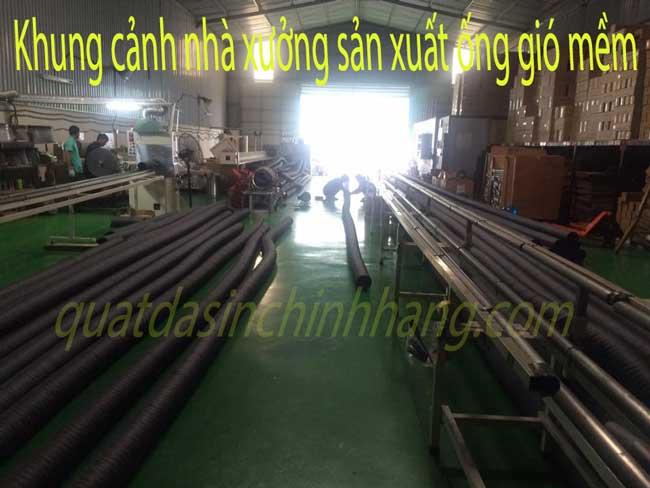 dây chuyền sản xuất ống gió mềm vải Hàn Quốc