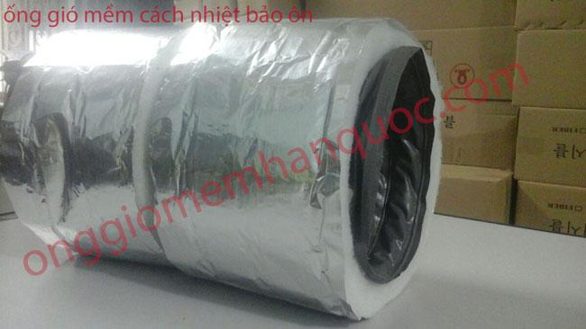 ống gió mềm vải có bảo ôn fiber