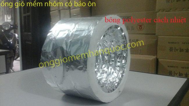 Ống gió mềm nhôm bảo ôn D200-ống gió mềm Hàn Quốc (Korea)