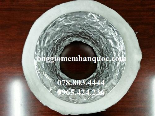 ống gió mềm nhôm bảo ôn bông polyestes 1