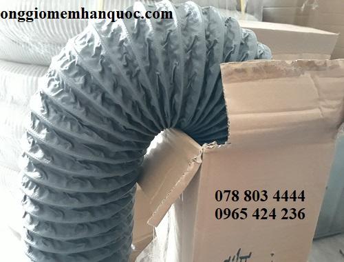 bán ống gió mềm vải Fiber D200 không bảo ôn Hàn Quốc 1