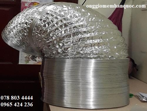 báo giá ống gió mềm nhôm không bảo ôn Hàn Quốc 1