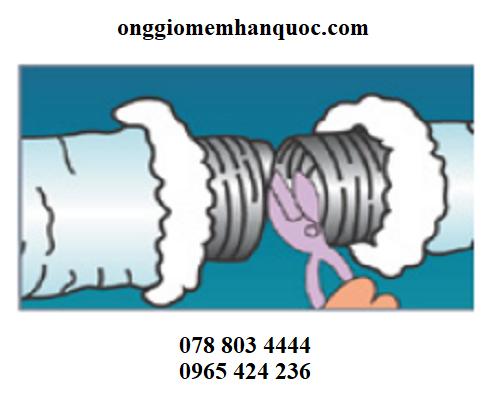 phương pháp lắp ráp ống gió mềm vào hệ thống 1