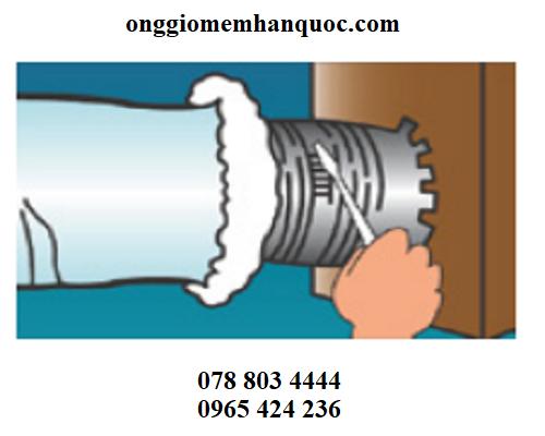 Phương pháp lắp ráp ống gió mềm vào hệ thống