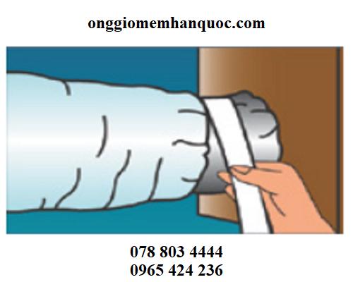 phương pháp lắp ráp ống gió mềm vào hệ thống 3